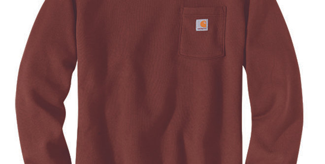 Carhartt Men's Crewneck Pocket Iron Ore Heather Sweatshirt