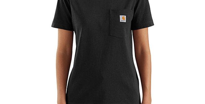 Carhartt Women's K87 Short-Sleeve Pocket Tee - Black