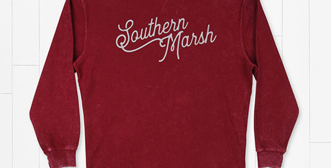 Southern Marsh Sunday Morning Washed Corduroy Sweater