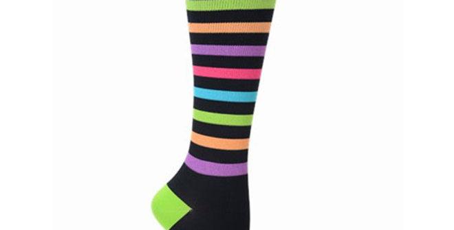 Nurse Mates Bright Stripe Compression Socks