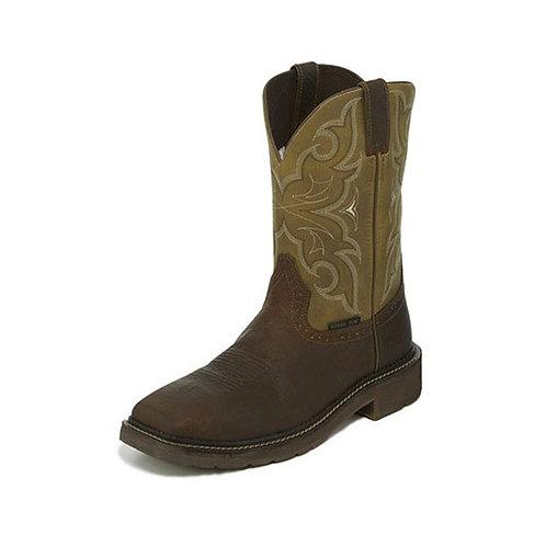 Justin Amarillo Cactus Steel Toe Boot