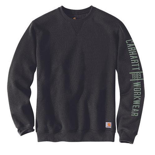 Carhartt Men's Original Fit Midweight Crewneck Black Sweatshirt