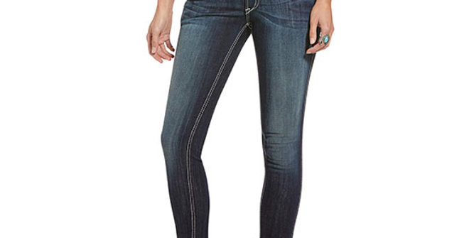 Ariat Women's R.E.A.L. Mid Rise Outseam Ella Skinny Jean