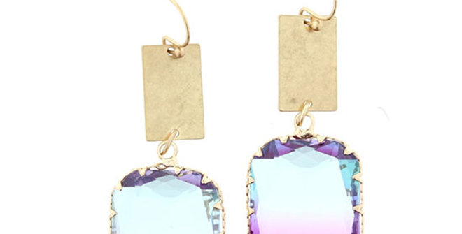 Jane Marie Smoky Purple Earrings