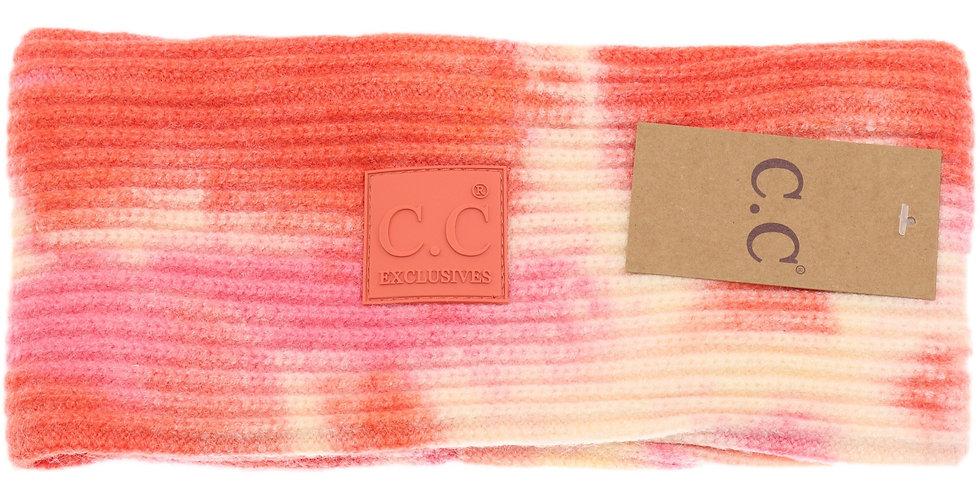 CC Beanie Tie Dye Head Wrap with Rubber Patch