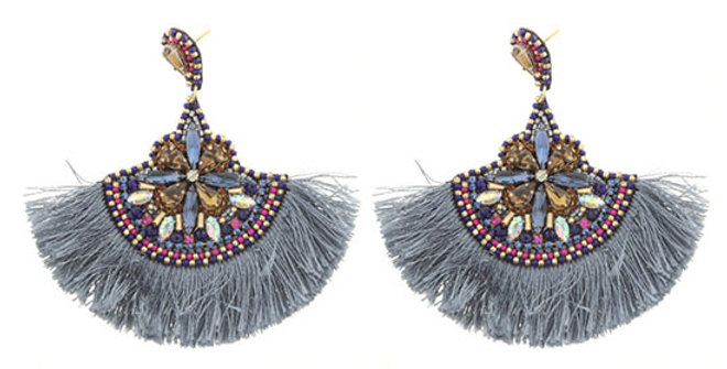 Jane Marie Beaded Tassel Earring