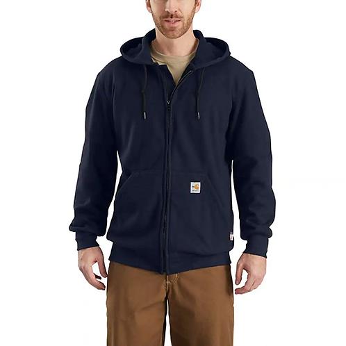 RWEC Carhartt Men's FR Rain Defender Hooded Zip-Front Sweatshirt
