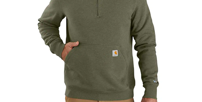 Carhartt Force Men's Relaxed Fit 1/4 Zip Sweatshirt