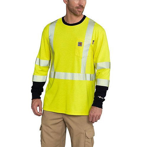 Carhartt Men's Flame-Resistant High-Vis Force Long Sleeve T-Shirt