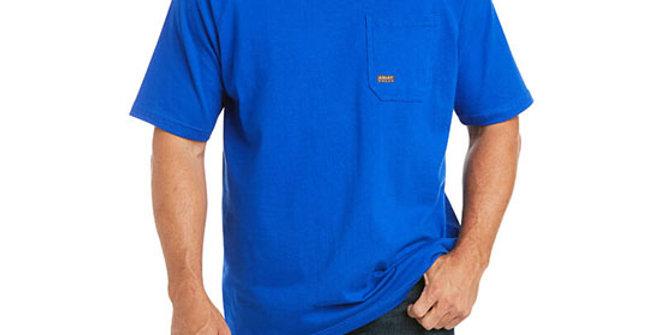 Ariat Men's Rebar Cotton Strong T-Shirt - Sapphire Blue