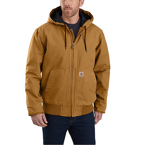 Carhartt Men's Washed Duck Insulated Active Jac Carhartt Brown