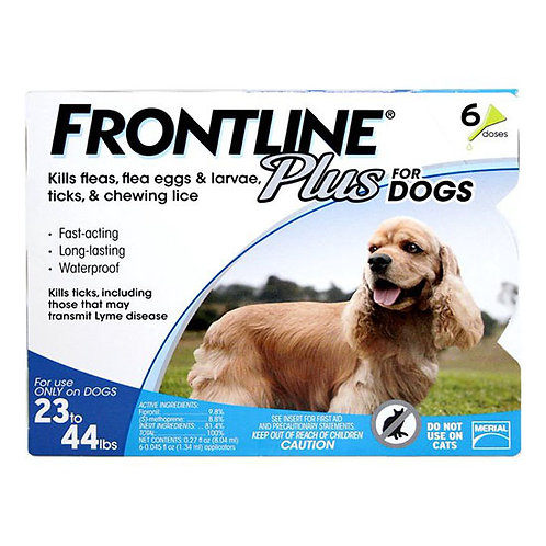 Frontline Plus for Dog 23 to 44 lbs.