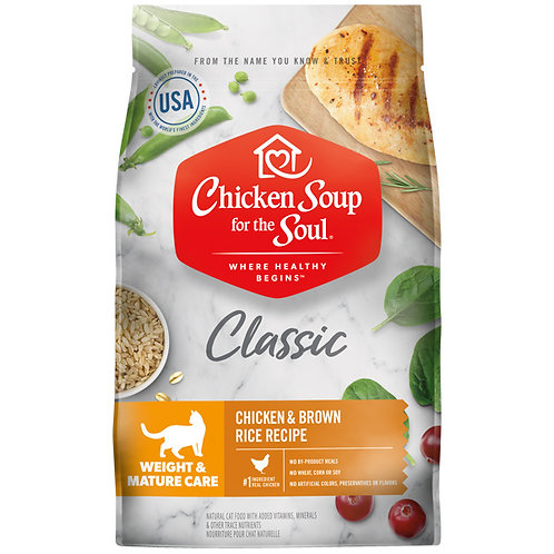 Chicken Soup Classic Weight and Mature Care Cat - 13.5 lb. bag