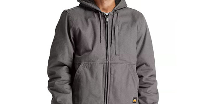 Timberland Pro Men's Gritman Line Hooded Canvas Jacket