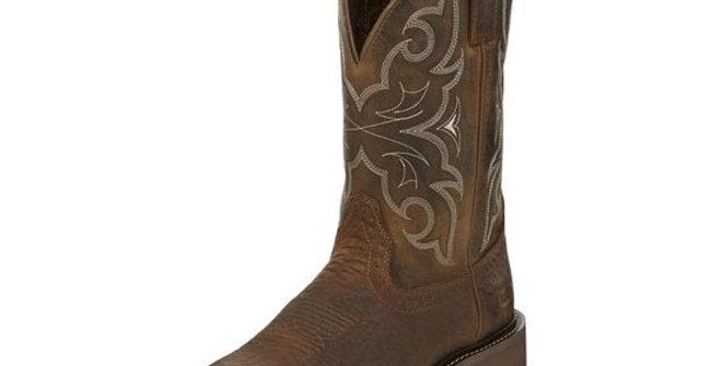 Justin Men's Amarillo Chocolate Soft Toe Boot