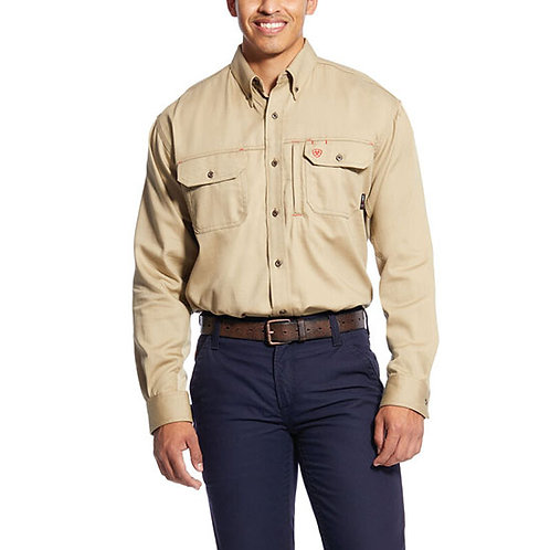 RWEC Ariat Men's FR Solid Vent Work Shirt