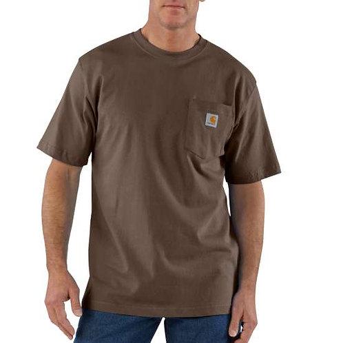 Carhartt Men's Workwear K87 Pocket T-Shirt - Dark Brown