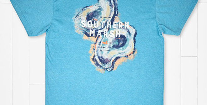 Southern Marsh Impressions Oyster Tee