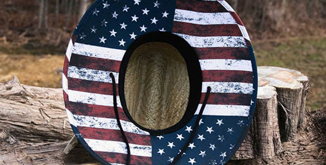 Old South American Flag Straw Hat