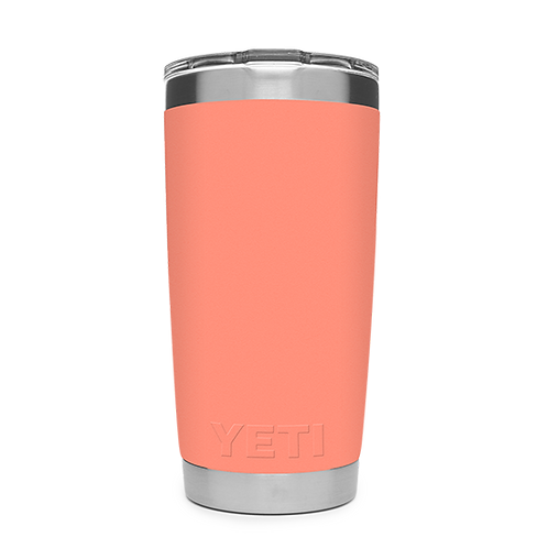 Yeti Rambler 20 oz Tumbler with Magslider Lid - Coral