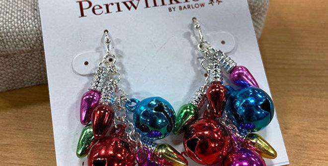 Periwinkle Christmas Bells Earrings