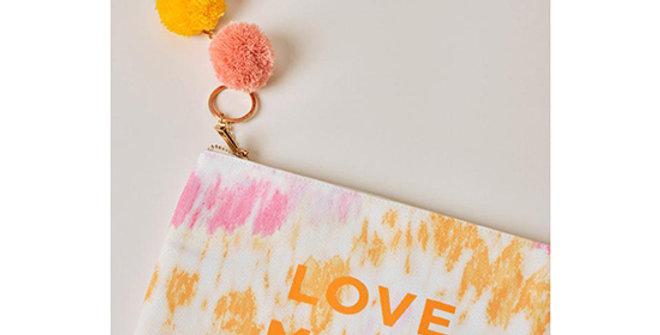 Ivory Ella Love More Tie Dye Canvas Pouch