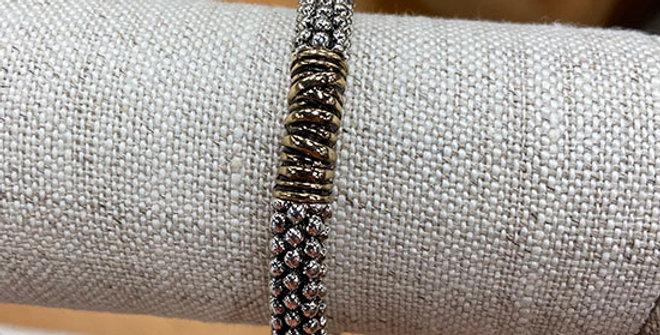 Periwinkle Two-Tone Textured Bracelet