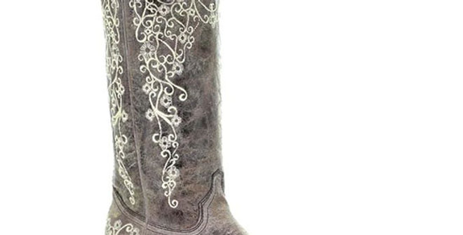 Corral Women's Brown Crater Bone Embroidery