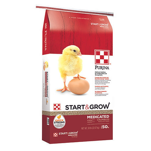 Purina Start and Grow Medicated - 50 lb. bag