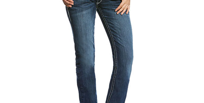 Ariat Women's R.E.A.L. Mid Rise Stretch Ivy Stackable Jean