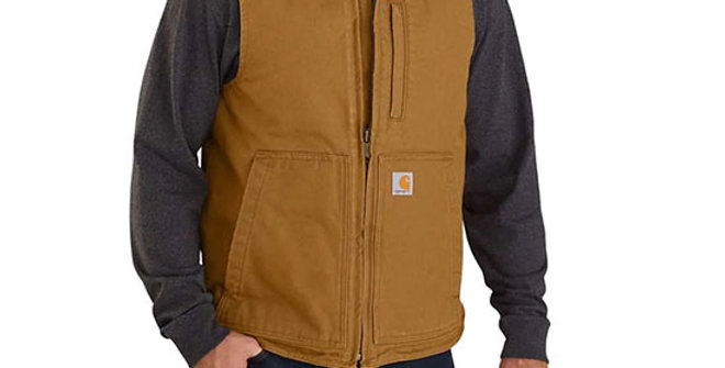 Carhartt Men's Washed Duck Insulated Rib Collar Vest