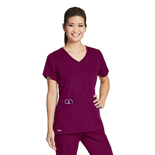 Grey's Anatomy Solid Side Panel V-Neck Top