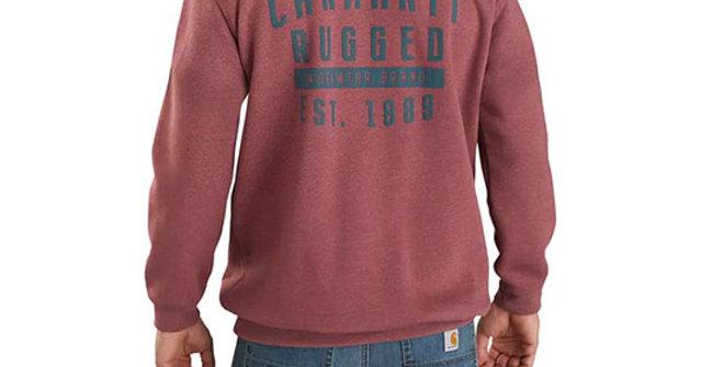 Carhartt Men's Original Fit Rugged Workwear Hooded Sweatshirt
