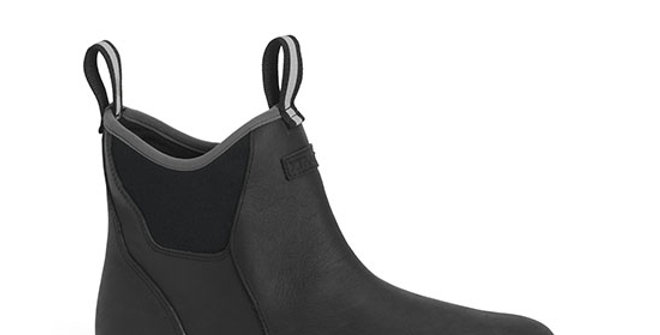 XtraTuf Men's Leather Ankle Deck Boot - Black