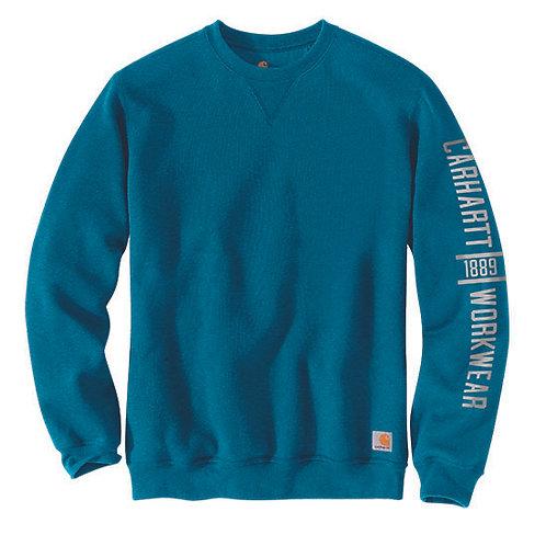 Carhartt Men's Original Fit Midweight Crewneck Ocean Sweatshirt
