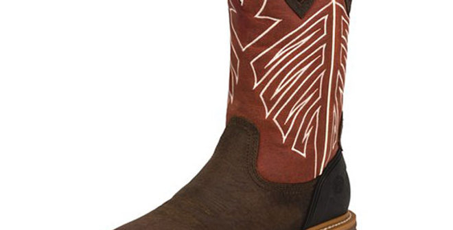 Justin Men's Roughneck Chestnut Waterproof Boot