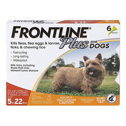 Frontline Plus for Dog 5 to 22 lbs.