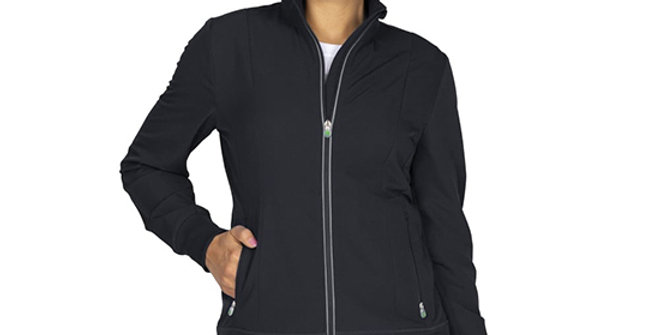 HH360 Women's Carly Solid Scrub Jacket
