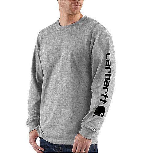 Carhartt Men's Workwear Long-Sleeve Graphic Heather Gray T-Shirt