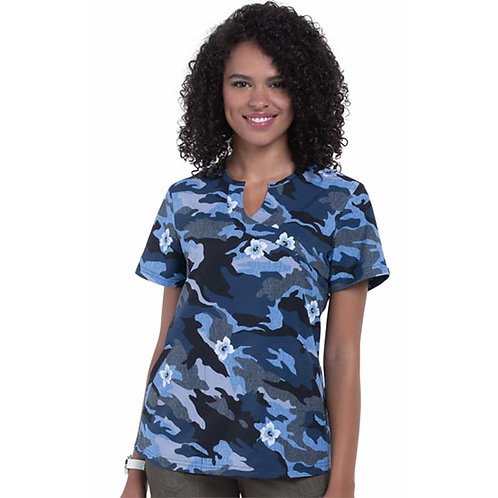 Koi Next Gen Restless Camo Floral Top