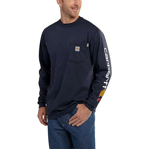 Carhartt Force Men's Flame-Resistant Graphic Long-Sleeve T-Shirt