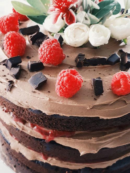 Dark Chocolate and Raspberry Cake