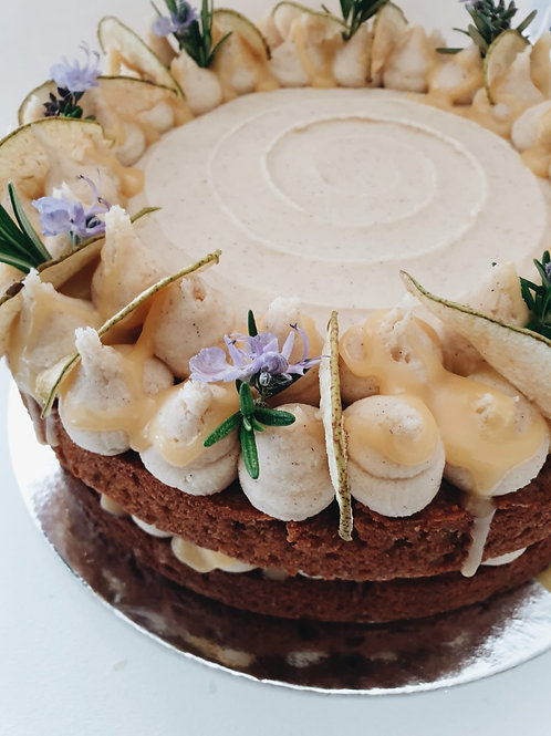 Spiced Pear and Salted Caramel Cake