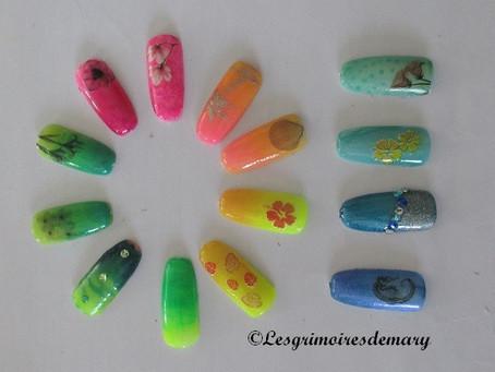 L'été jusqu'aux bouts des ongles : dégradés et décors colorés