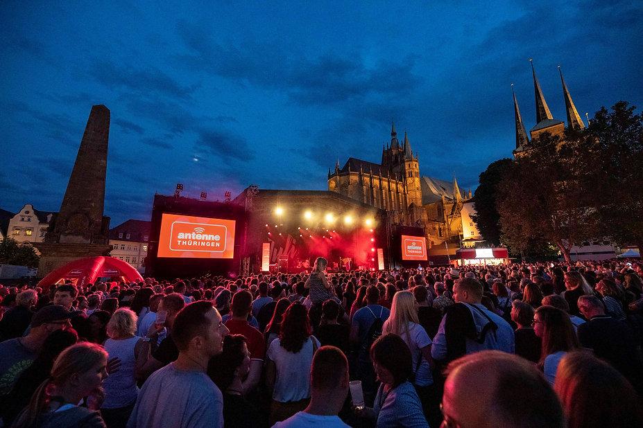 ANTENNE THÜRINGEN Bühne beim Krämerbrück