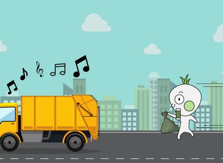 老公,垃圾車來了啦!