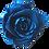 Thumbnail: ROSE STABILISÉE 63MM - BLEUE ROI (x6)