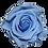 Thumbnail: ROSE STABILISÉE 63MM - BLEUE CIEL (x6)