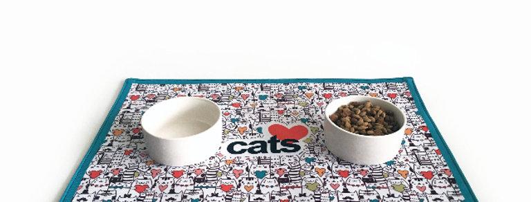 Manteleta para alimento Gatos