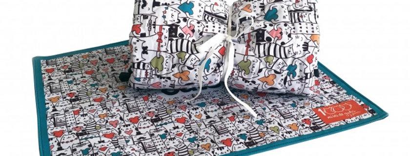 Paquete Blanket + Manteleta Gatitos